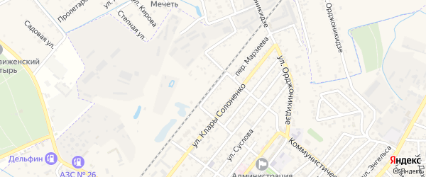Пригородная улица на карте Кизляра с номерами домов