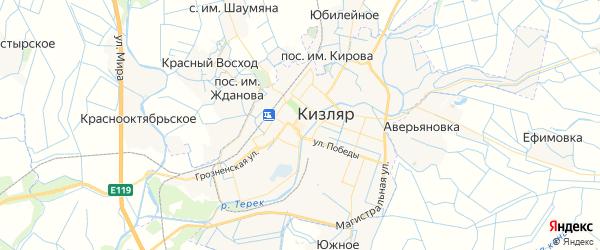 Карта Кизляра с районами, улицами и номерами домов