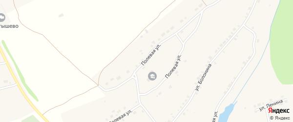 Полевая улица на карте села Алтышево с номерами домов