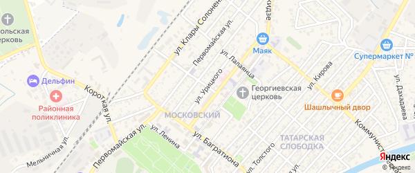 Улица Урицкого на карте Кизляра с номерами домов