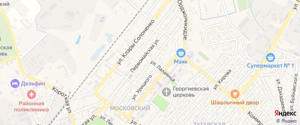 Улица Суслова на карте Кизляра с номерами домов