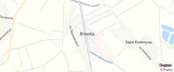 Карта села Впереда в Дагестане с улицами и номерами домов
