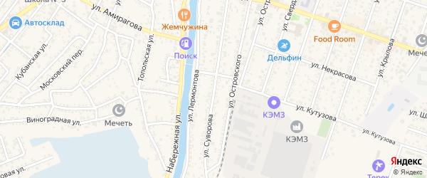 Улица Суворова на карте Кизляра с номерами домов