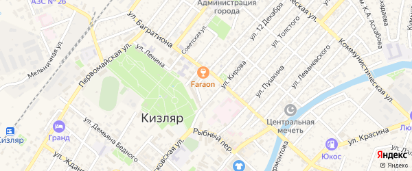 Средний переулок на карте Кизляра с номерами домов