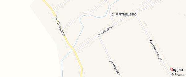 Улица Сульдина на карте села Алтышево с номерами домов
