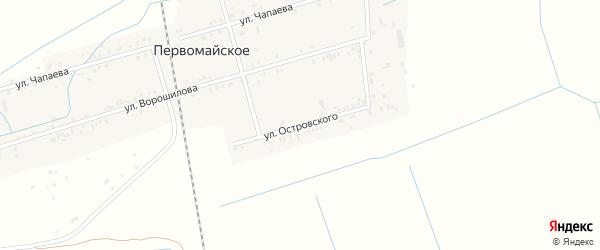 Улица Островского на карте Первомайского села с номерами домов