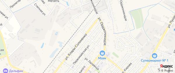 Улица Марзеева на карте Кизляра с номерами домов