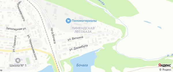 Улица Вяткина на карте Котласа с номерами домов