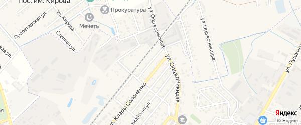 Переулок Марзеева на карте Кизляра с номерами домов