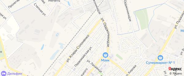 Армянская улица на карте Кизляра с номерами домов