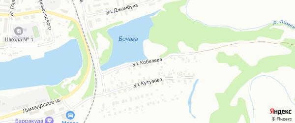 Улица Кобелева на карте Котласа с номерами домов