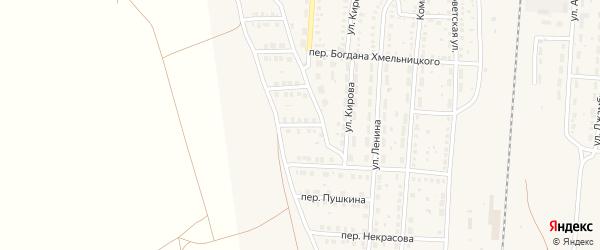 1-й Дачный переулок на карте поселка Верхнего Баскунчака с номерами домов