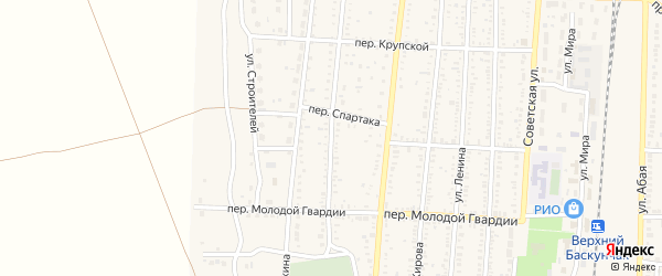 Степная улица на карте поселка Верхнего Баскунчака с номерами домов