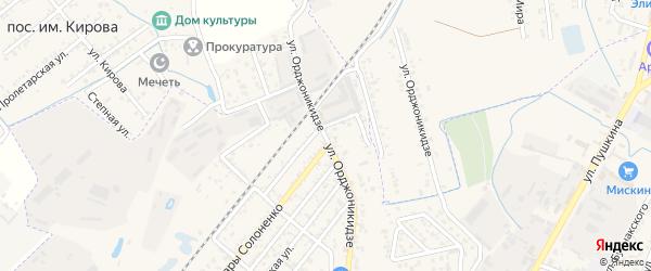 Улица Орджоникидзе на карте Кизляра с номерами домов