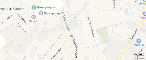Совхозный переулок на карте Кизляра с номерами домов