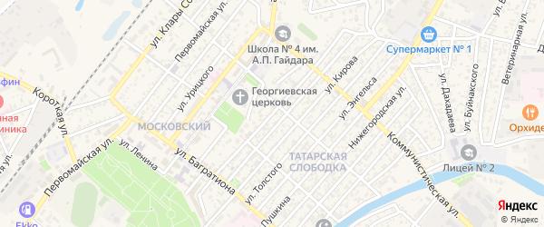 Улица К.Маркса на карте Кизляра с номерами домов