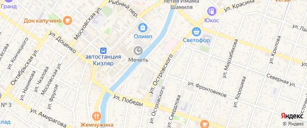 Улица Тургенева на карте Кизляра с номерами домов