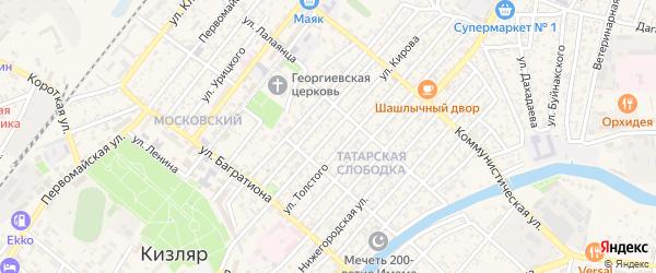 Улица Кирова на карте Кизляра с номерами домов