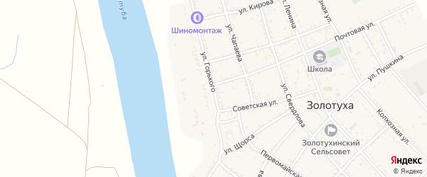 Улица Горького на карте села Золотухи с номерами домов