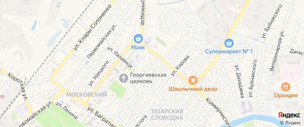 Безымянный переулок на карте Кизляра с номерами домов