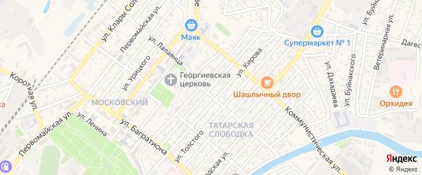 Улица 12 Декабря на карте Кизляра с номерами домов