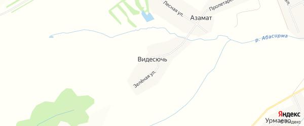 Карта деревни Видесючь в Чувашии с улицами и номерами домов
