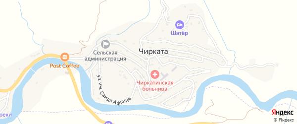 Улица Им Бадрудина Афанди на карте села Чиркаты с номерами домов
