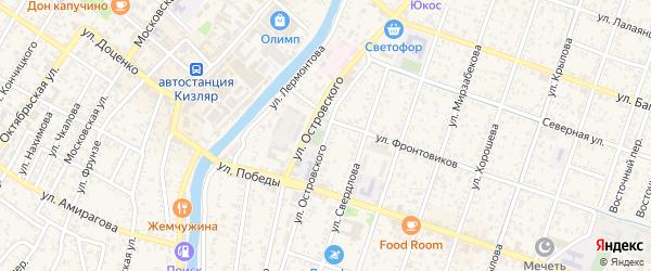 Улица Островского на карте Кизляра с номерами домов