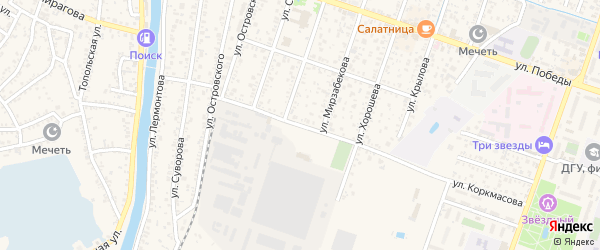 Улица Кутузова на карте Кизляра с номерами домов