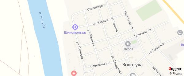 Улица Чапаева на карте села Золотухи с номерами домов
