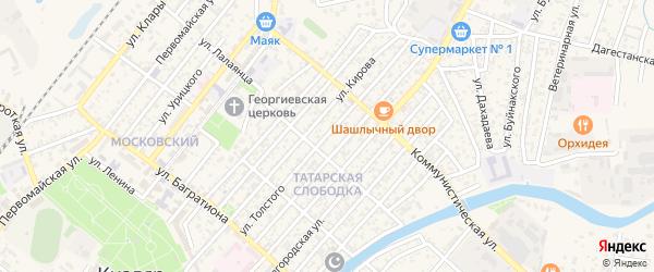 Улица Толстого на карте Кизляра с номерами домов