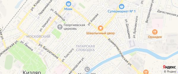 Улица Ф.Энгельса на карте Кизляра с номерами домов