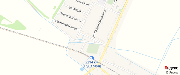 Комсомольская улица на карте села Кокрека с номерами домов
