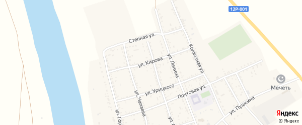 Улица Кирова на карте села Золотухи с номерами домов