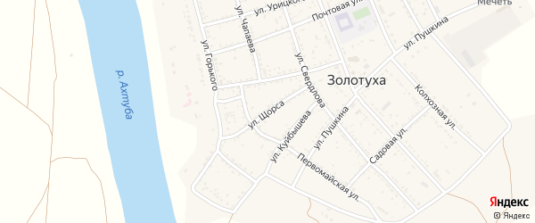 Улица Щорса на карте села Золотухи с номерами домов