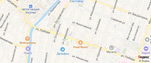 Улица Герцена на карте Кизляра с номерами домов