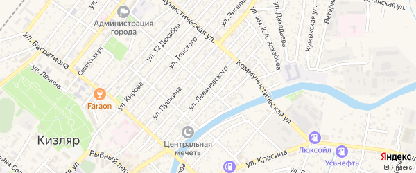 Улица Леваневского на карте Кизляра с номерами домов