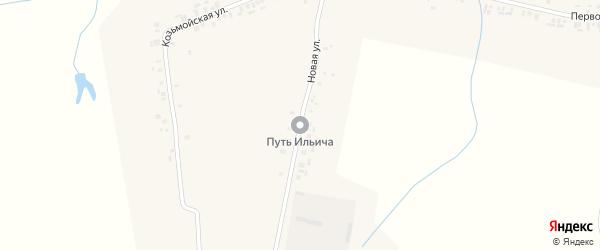 Новая улица на карте деревни Хорного с номерами домов