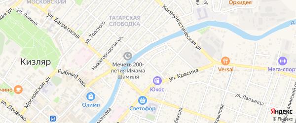 Улица Малыгина на карте Кизляра с номерами домов