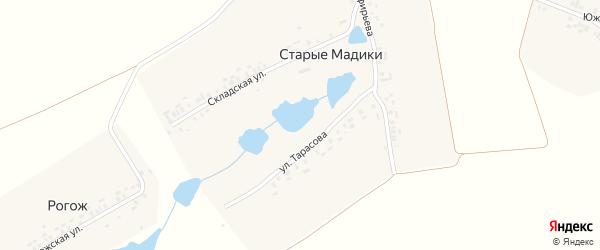 Складская улица на карте деревни Старые Мадики с номерами домов