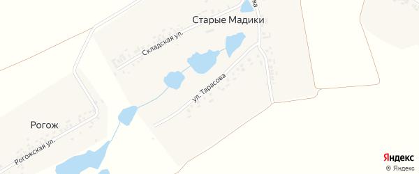 Улица Тарасова на карте деревни Старые Мадики с номерами домов