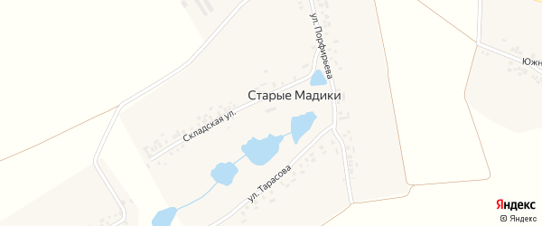 Школьная улица на карте деревни Старые Мадики с номерами домов