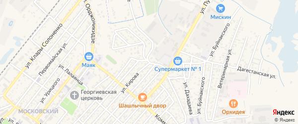 Улица Пушкина на карте Кизляра с номерами домов