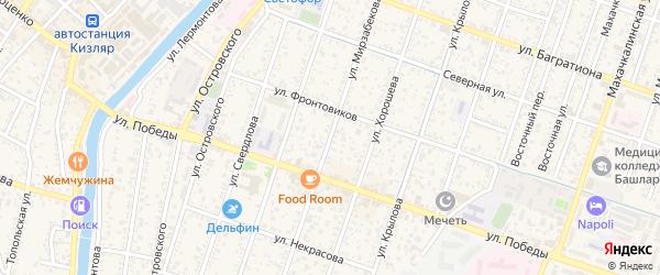 Улица Куйбышева на карте Кизляра с номерами домов