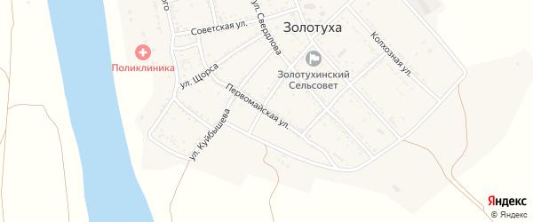 Первомайская улица на карте села Золотухи с номерами домов