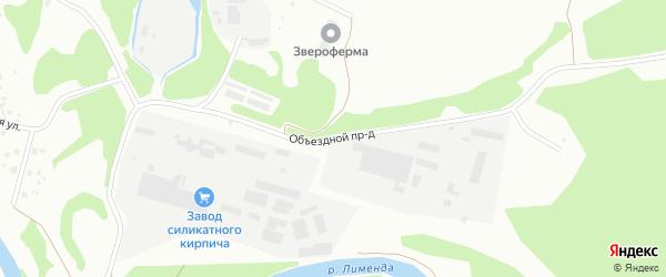 Объездной проезд на карте Котласа с номерами домов