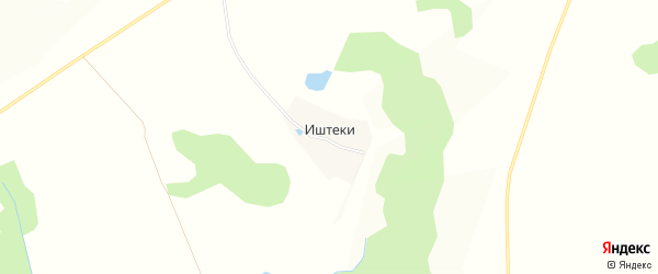 Карта деревни Иштеки в Чувашии с улицами и номерами домов