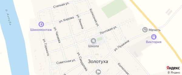 Почтовая улица на карте села Золотухи с номерами домов