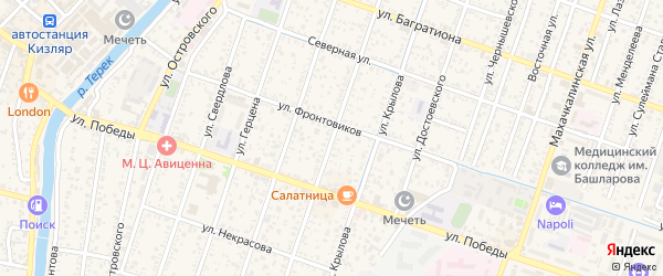 Улица Хорошева на карте Кизляра с номерами домов