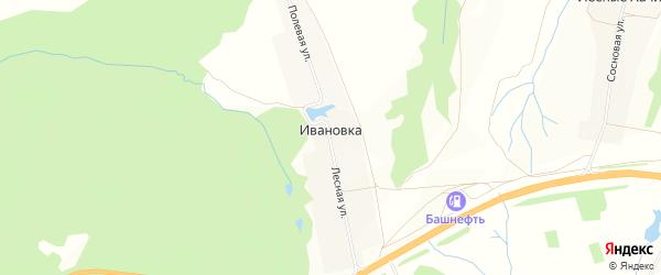 Карта деревни Ивановки в Чувашии с улицами и номерами домов
